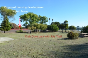 proposed housing development site Crab Cove
