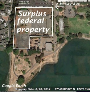 Surplus federal property Google Earth image